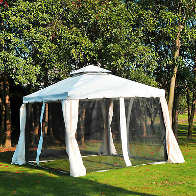 Outsunny Gazebo Steel Frame Netting Mesh Canopy Outdoor Party Event Mosquito