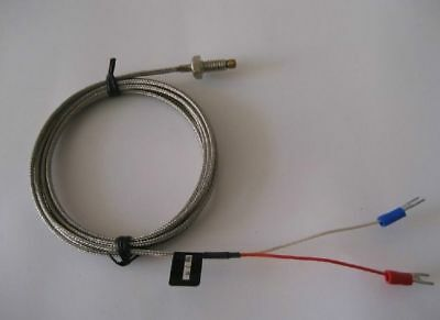 WRNT K Type Thermocouple Temperature Sensor Probe M6 Screw Wire Length 1M