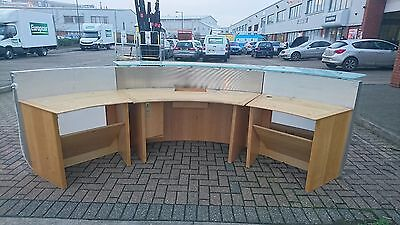 Semi Front Reception Office Round Desk Table Units
