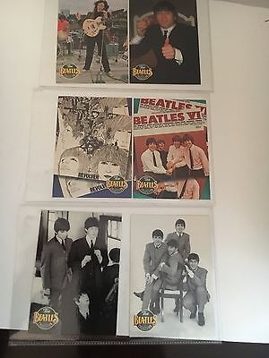 "6  Beatles 1993 Trading Cards  ""THE BEATLES COLLECTION"" THE RIVER GROUP"