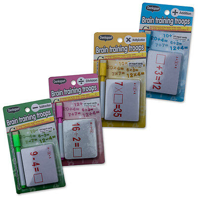 Brain Training Flash Cards for Multiplication, Addition, Subtraction & Division