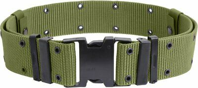 U.s Military Pistol Belt Nylon Od Green Combat Belt Size Large New