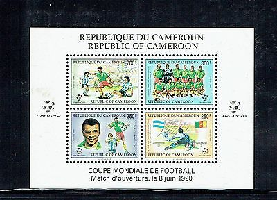 Cameroun 1990 World Cup Football MS unmounted mint