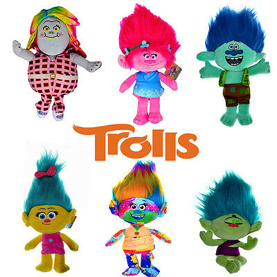 """Official Trolls 12"""" inch / 30cm Tall Plush Soft Toys Brand New Gift"""