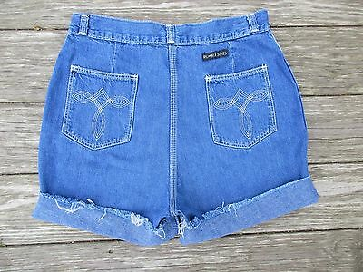 Vintage 80's Denim Cutoff Shorts High Waist Rumble Seats 29