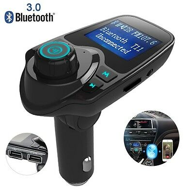 T11 FM Transmitter Wireless Bluetooth Receiver Stereo Radio Adapter Car Kit