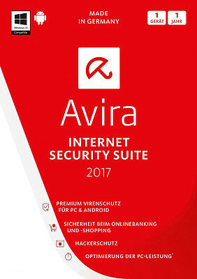 AVIRA Internet Security / Optimization Suite 2017 | 1 PC / 1 Jahr | Lizenz KEY