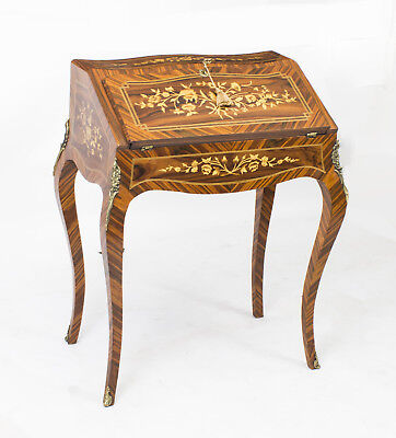 French Rosewood Louis XV Style Marquetry Bureau