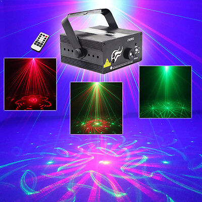 Wonsung 40 gobos red green RG laser light 3W LED BLUE Stage Lighting Projector