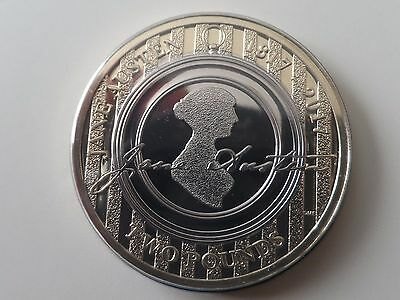 2017 Uk Royal Mint Jane Austen £2 Two Pound Coin Uncirculated