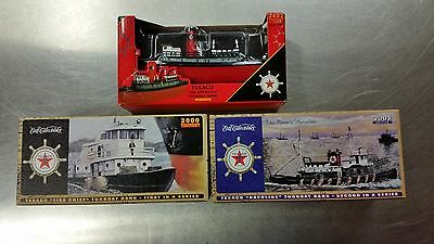 Complete Set Of 3 Ertl Regular Edition Texaco Tugboat Banks - Towboat