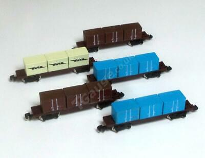 T Gauge 5 Container Wagons Set