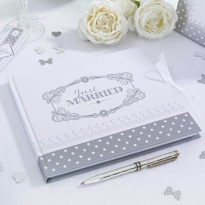 Chic Boutique Guest Book White/Silver Party Supplies Wedding