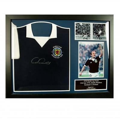 Scotland F.A. Gemmill Signed Shirt (Framed)