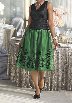 size 14 Verde Dress wedding formal church party cocktail by Ashro new