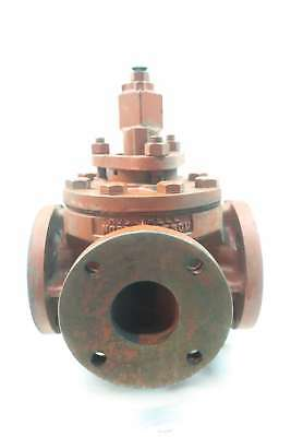 Nordstrom M-59 Rockwell 3 Way 200wog 3 In Iron Flanged Plug Valve