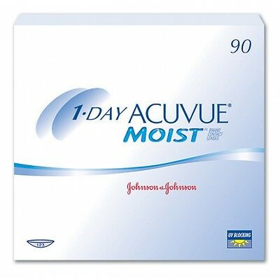 1-day Acuvue Moist contact lenses with Laceron -5.00 90 lenses Exp 08/2020