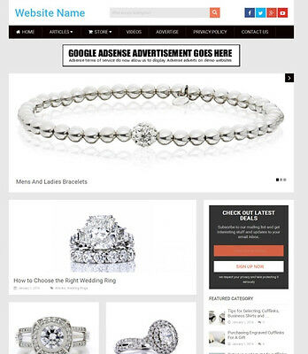 JEWELLERY STORE - Online Business Website For Sale, Free Domain Name