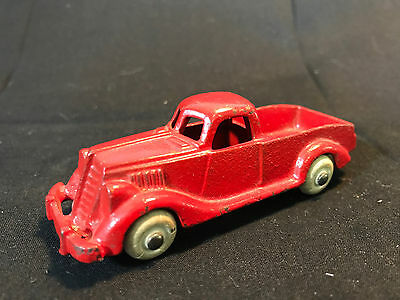 Old Vtg 1930's Antique Cast Iron Hubley Red Pickup Truck Made In The USA