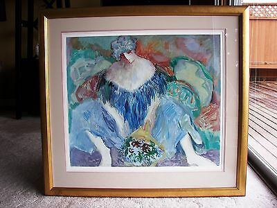 """""""Blue Lady"""" by Barbara A. Wood Limited Edition Print 847/975 Signed, Framed"""
