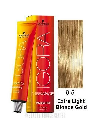 Schwarzkopf Igora Vibrance Tone & Tone Hair Color 9-5 (Extra Light Blonde Gold)