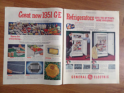 1951 GE General Electric Refrigerator Ad