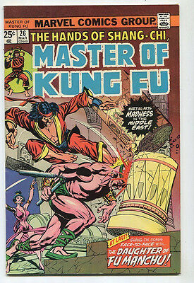 Master Of Kung FU #26 VF  Daughter Of FU Manchu   Marvel CBX39B