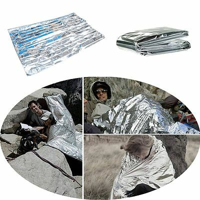 210*160cm Portable Thermal Aluminum Foil Survival Emergency Blanket First Aid