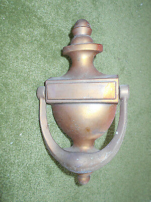 Vintage/antique Solid Brass Door Knocker W/original Mounting Screws