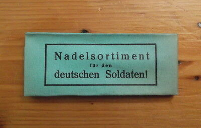 Original WW2 German army pack of needles for soldiers sewing kit