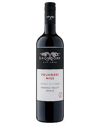 Krondorf Founders Mile Single Vineyard Barossa Shiraz case of 6 Dry Red Wine
