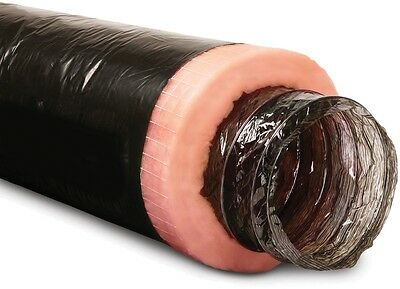 Flexible Duct Insulated Fiberglass Black Jacket Polyester 6 In X 25 Ft Imperial
