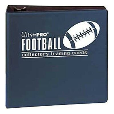 """3"""" Ultra Pro Football Navy 3-Ring Binder + 50 Pages of Top Loading 9-pocket"""