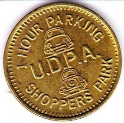 U. D. P. A.  Parking Token  #1  Seattle, Washington