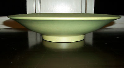 Catalina pottery arts and craft bowl matte green vintage