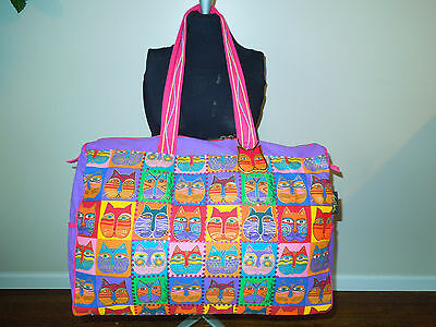 Leurel Burch Cats Large Travel Bag