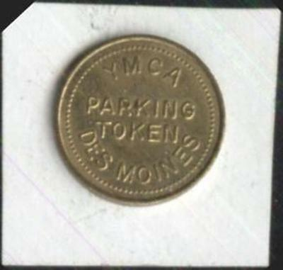 YMCA  Parking Token Des Moines, Iowa