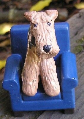 Airedale Terrier on a Blue CHAIR!