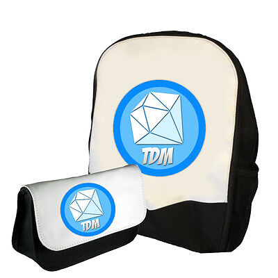 Dantdm Logo Backpack / Pencil Case Double Pack (Bms) Back To School Bag Tdm