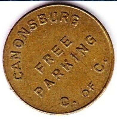 Canonsburg (Pennsylvania) Chamber of Commerce  Parking Token