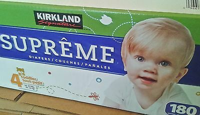 Kirkland Signature [SIZE 4] Supreme Diapers (Qty. 180 count) *NEW**FREE SHIPPING