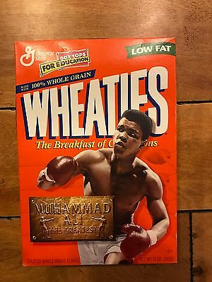 1999 Muhammad Ali The Greatest Wheaties Cereal Box Full
