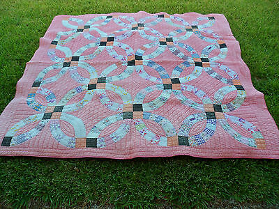 ANTIQUE AMERICAN 1920s VINTAGE OLD FEED SACK PATCHWORK QUILT FLOUR SACK BACK