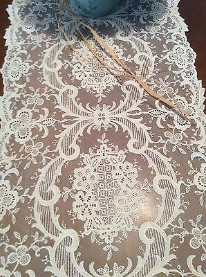 Antique French Netting Dresser Scarf Table Runner 45 00