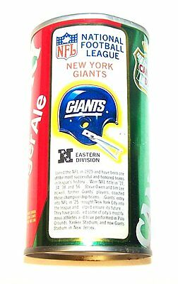 Canada Dry NFL New York Giants Ginger Ale Soda Pop Can Mets Yankees Tickets Ofr