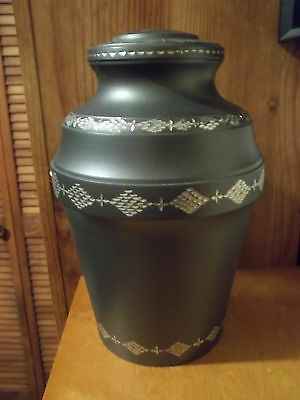 Adult Brass Urn~~Rustic Slate Diamond Cut Design~~ 220 lbs~~Slightly Imperfect