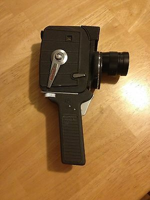 Movie camera 1960's Mansfield Holiday 8mm with zoom made in Japan