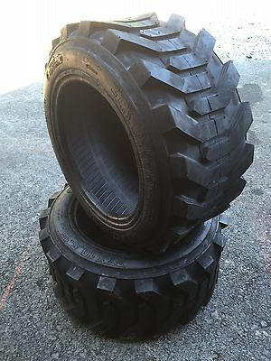 2 NEW 27X10.50-15 Skid Steer Tires-27X10.5-15-8 Ply-for Bobcat, Case and more