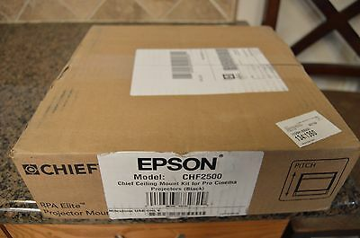 EPSON CHF2500 Projector Ceiling Mount Kit For Pro Cinema BLACK NEW 2015