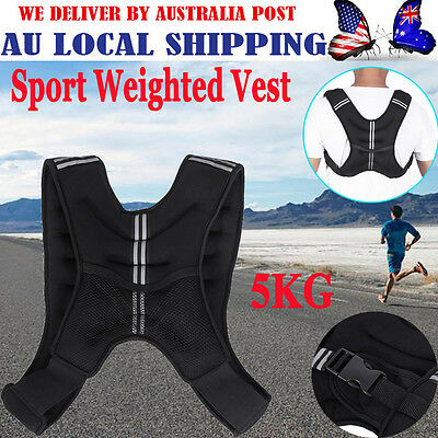 Latest Weighted Vest 5kg Gym Weight Loss Training Running Adjustable Jacket HG